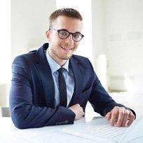 Consultancy en systeembeheer, foto van zakenman