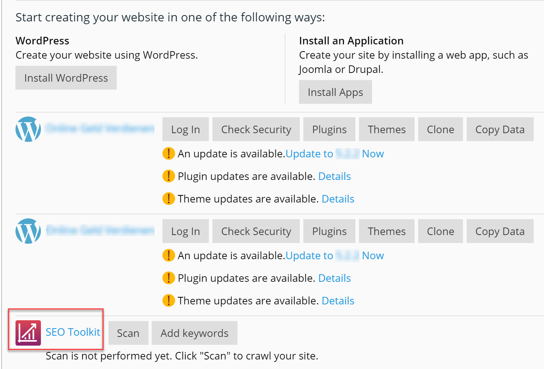 Installeer en beheer WordPress